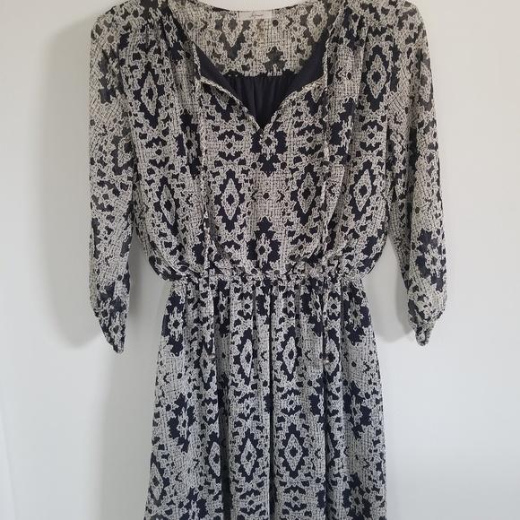 Soprano Dresses & Skirts - 3/4 Sleeve Chiffon A-Line Dress